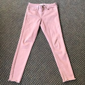 Dusty Rose Stretch Skinny Jeans